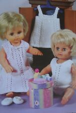 PREMATURE BABY/DOLLS CLOTHES~LINGERIE~SLIPPERS~ 4 PLY KNITTING PATTERN (DOLL 4)