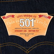 Levis 501 Jeans New Size 29 x 30 INDIGO ( Dark Blue ) Mens Button Fly #1134