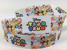 BTY Printed 1 Inch Disney Adorable Tsum Tsum Grosgrain Ribbon Hair Bows Lisa