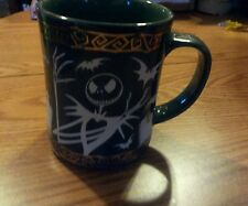 Nightmare before christmas jack skellington coffee mug cup 3d bats gold disney
