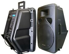 "New 15"" 400W Professional PA,DJ Powered Speaker USB/SD,Mic.RCA Input LCD Screen"