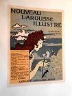 estampe ancienne EUGENE GRASSET vintage print LAROUSSE ART NOUVEAU 31 x 23 cm