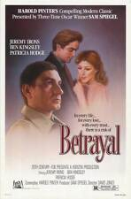 BETRAYAL Movie POSTER 27x40 Ben Kingsley Patricia Hodge Jeremy Irons