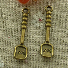 free ship 150 pieces Antique bronze love shovel charms 30x7mm #2913
