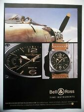 PUBLICITE-ADVERTISING :  BELL & ROSS BR03 Golden Heritage  2014 Montres,Avions
