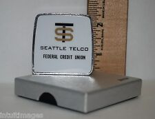 VINTAGE LUFKIN TAPE MEASURE SEATTLE TELCO FEDERAL CREDIT UNION IN BOX Bank