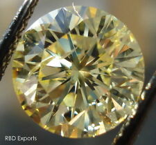 2.40CT 8.50MM LIGHT YELLOW LOOSE REAL MOISSANITE BRILLIANT ROUND CUT FOR RING