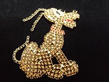 Large Disney's Pluto Rhinestone Paved Crystal Swarovski brooch pin