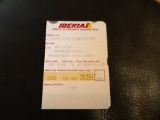 IBERIA AIRLINES OLD USED BOARDING PASS PASSENGER RETAINING PART  SPAIN ZB575