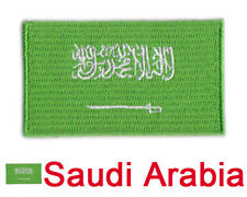 "Small Saudi Arabia Flag Iron On Patch 2.5"" x 1.5"" inch Free Shipping"