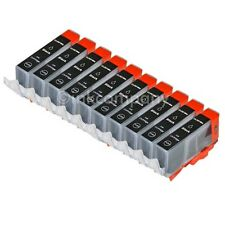 10x para Canon cartuchos + chip CLI 521 Black IP 3600 IP 4600 IP 4700 mp 540 mp550