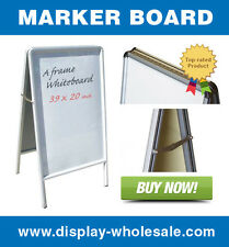 Double Side Sidewalk A Frame white markerboard