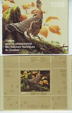Bengphil Quebec QW1 1988 Wildlife Habitat Conservation in original folder