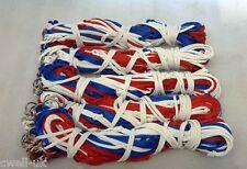 """Confezione da 5 haynets forte 9 Anelli 40"""" Grandi Fori 4.2"""" Tri Colore Rosso/Bianco/Blu"""