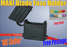 In Line Maxi Blade Fuse Holder, Water Proof, Splash Proof, **Free 50 Amp Fuse**