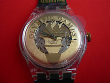 SWATCH AUTOMATIC OLYMPIC PYRSOS - SAZ104 - 1995 - ATLANTA NEW + PILA GRATIS