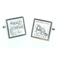 Making Preparations for the Morning Prayer Drinkers Cufflinks Present Gift Box
