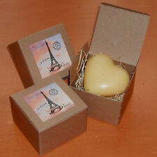 Heart Shaped Soap - Lemongrass Fragrance - Made in France, Boxed, Price is for 1