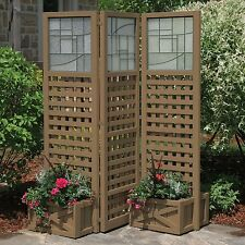 Privacy Screen with Planters Garden Outdoor Greenhouse AB202067