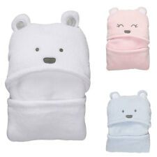 Lovely Bear Baby Hooded Bathrobe Soft Infant Newborn Bath Towel Blanket