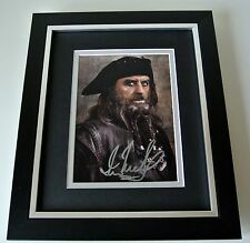Ian McShane SIGNED 10X8 FRAMED Photo Autograph Display Pirates Film & COA