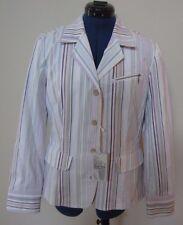 Indigo Palms Tommy Bahama Multi Color Striped Jacket Blazer Medium MSRP $155 NWT