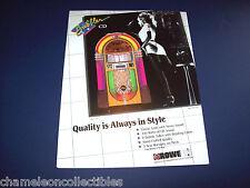 BUBBLER CD By ROWE 1990s ORIGINAL JUKEBOX PHONOGRAPH SALES FLYER BROCHURE