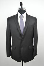 [04 04] ALFANI RED NWT MENS SOLID BLACK 100% WOOL BLAZER SIZE 42S