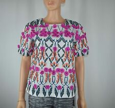 New J Crew J.Crew Collection Floral Flower Top Multi Color Size 2