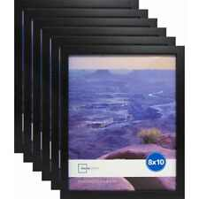"""Set of 6 Black Picture Frames Home Decor Mainstays 8"""" x 10"""" Photo Linear Frame"""