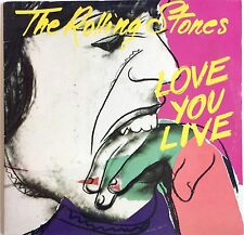 VINTAGE 1977 ROLLING STONES LOVE YOU LIVE NEAR MINT 2 ROLLING STONES RECORDS SET