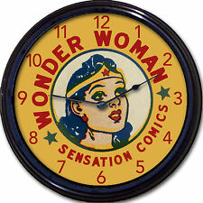 Wonder Woman Wall Clock DC Comics Movie Super Hero Warrior Princess Super power