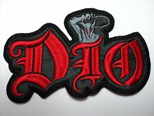 DIO  SHAPED EMBROIDERED PATCH