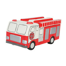 Fire Engine Truck Ceramic Cookie Jar. Fire Fighter/Department Collectible Gift