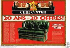 Publicité advertising 1996 (2 pages) Mobilier Canapé Cuir Center