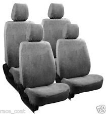 Cotton Towel Car Seat Cover Grey Colour Soft & Cool for Fiat Palio