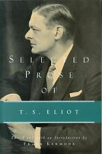 Selected Prose of T. S. Eliot by T. S. Eliot (1975, Paperback, Reprint)