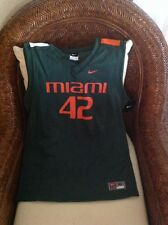 Miami Hurricanes Basketball #42 Nike Green Replica Jersey NWT Size XL Youth