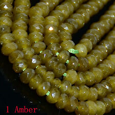 2x4mm Mulitcolor Faceted Agate roundlle Gemstone Loose Beads 16""