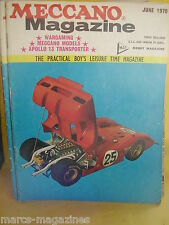 MECCANO JUNE 1970 HASTINGS HILL LIFT BSA BANTAM 175 TEST POST OFFICE TOWER