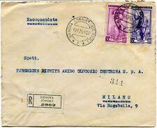 1951 Italia al Lavoro RACCOMANDATA Attilio Bruzzone & C. (a tergo) Genova FRAGD