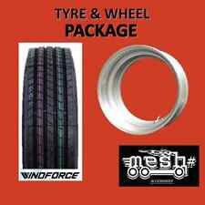 11R22.5 WH1000 Trailer Tyre and Silver MESH Demountable / 10-285 or 10-335 Wheel