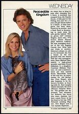 1989 TV ARTICLE~TOM WOPAT DUKES OF HAZZARD~LINDSAY WAGNER BIONIC WOMAN~NEW SHOW