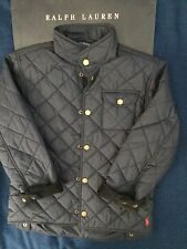 Polo Ralph Lauren boys diamond quilted jacket, Navy blue, size M (10-12)