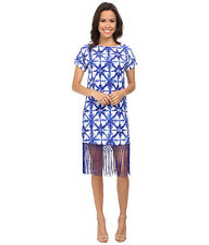 NWT Michael Kors Glazed Fringe Royal Blue Dress, Sz XS, $160