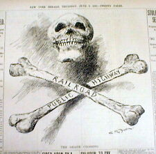 2 1897 NY newspapers LONG ISLAND RAILROAD portrayed as DEATH TRAP in NASSAU COUN