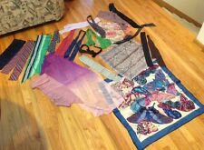 Huge Lot 22 Vintage Womens Silk Scarves Neck Ties Ginnie Johansen Vicky Davis