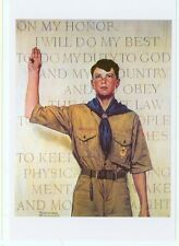NORMAN ROCKWELL-BOY SCOUTS/ON MY HONOR (NR-186)*