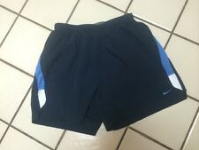 NIKE FIT DRY REFLECTIVE Sport, Running Shorts_Navy Blue Stripe w/Swoosh_LARGE