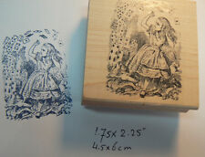 Alice in wonderland playing cards rubber stamp